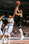 GLENDALE, AZ - APRIL 03: Nigel Williams-Goss #5 of the Gonzaga Bulldogs shoots a jumper over Nate Britt #0 of the North Carolina Tar Heels during the 2017 NCAA Men's Final Four National Championship game at University of Phoenix Stadium on April 3, 2017 in Glendale, Arizona.  (Photo by Jamie Schwaberow/NCAA Photos via Getty Images)