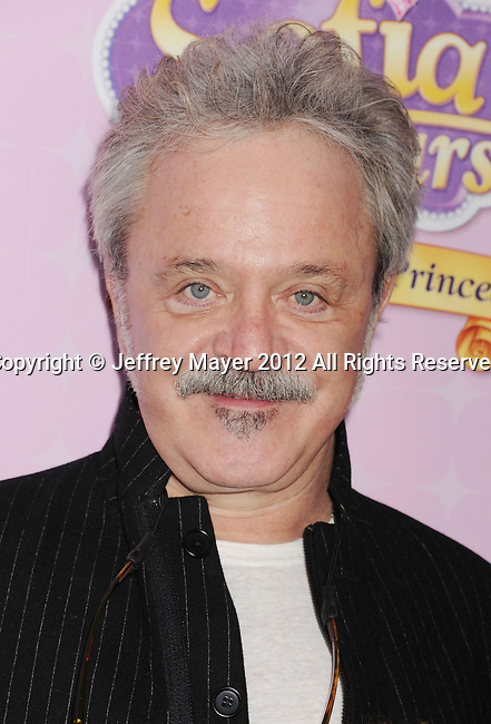 """BURBANK, CA - NOVEMBER 10: Jim Cummings  arrives at the Disney Channel's Premiere Party For """"Sofia The First: Once Upon A Princess"""" at the Walt Disney Studios on November 10, 2012 in Burbank, California."""