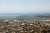USA, California, San Diego, a view of Downtown San Diego with the bridge to Coronado Island in the distance