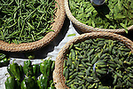 Pepper and green beans at the Analakely market in Antananarivo in Madagascar