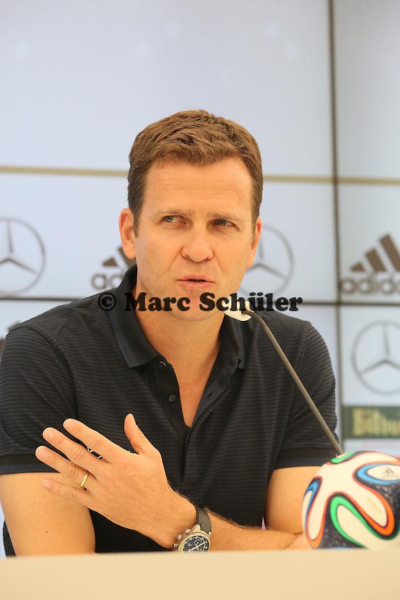 Nationalmannschaftsmanager Oliver Bierhoff - Pressekonferenz der Deutschen Nationalmannschaft zur WM-Vorbereitung in St. Martin