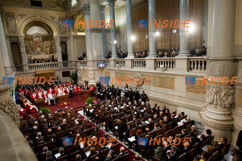 Panoramica <br /> Roma 23-01-2015 Corte di Cassazione. Inaugurazione dell'anno Giudiziario 2015.<br /> Photo Samantha Zucchi Insidefoto
