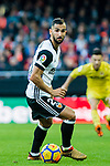 Martin Montoya Torralbo of Valencia CF in action during the La Liga 2017-18 match between Valencia CF and Villarreal CF at Estadio de Mestalla on 23 December 2017 in Valencia, Spain. Photo by Maria Jose Segovia Carmona / Power Sport Images