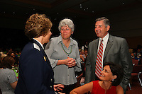 4 April 2008: Stanford Cardinal athletic director Bob Bowlsby and guest speaker brigadier general Michelle D. Johnson during Stanford's 2008 NCAA Division I Women's Basketball Final Four salute dinner at the Tampa Convention Center in Tampa Bay, FL.