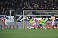 VOETBAL: CAMBUURSTADION: LEEUWARDEN: 15-12-2013, SC Cambuur AJAX, uitslag 1-2, Danny Klaassen scoort de winnende goal voor AJAX, ©foto Martin de Jong