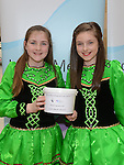 Sorcha McKernan and Jamie Mooney from the McCarthy school of irish dance who performed a dance display in aid of Down Syndrome Ireland Louth Meath branch at the Laurence Town Centre. Photo:Colin Bell/pressphotos.ie