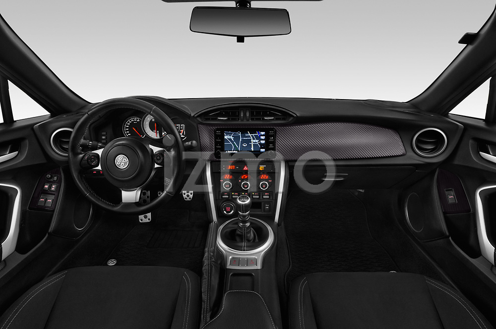 Stock photo of straight dashboard view of a 2017 Toyota GT86 Sport 2 Door Coupe