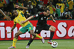 11 JUN 2010: Gerardo Torrado (MEX) (6) and Siphiwe Tshabalala (RSA) (8). The South Africa National Team tied the Mexico National Team 1-1 at Soccer City Stadium in Johannesburg, South Africa in the opening match of the 2010 FIFA World Cup.