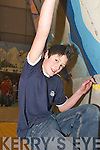 Naoise OMuirchearthaigh competing in the rock climbing at St Brendans College, Killarney, last Saturday..