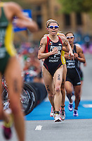 10 APR 2011 - SYDNEY, AUS - Jillian Petersen - women's ITU World Championship Series triathlon in Sydney, Australia .(PHOTO (C) NIGEL FARROW)