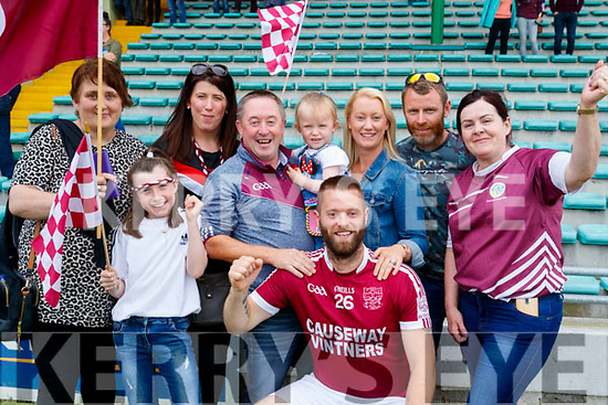 Causeway supporters l-r: Margaret Dineen, Jamie Leigh Donegan, Laura Donegan, Jo Jo Whyte, Emma Gaynor, Adam Whyte, Tracey and John Gaynor with Kathleen Guerin.