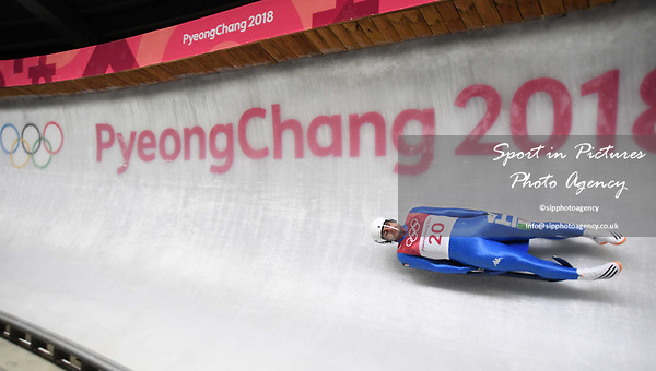 Emanuel Rieder (ITA). Mens luge. Pyeongchang2018 winter Olympics. Alpensia sliding centre. Alpensia. Gangneung. Republic of Korea. 11/02/2018. ~ MANDATORY CREDIT Garry Bowden/SIPPA - NO UNAUTHORISED USE - +44 7837 394578