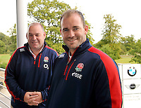 Mortimer, England, Alan Lane of the RFU, Neil McGoven of the RFU at the Launch of BMW Group UK's new partnership with the RFU including investment in the RFU National Academy Programme and front of shirt sponsorship for the England Under-20, Under-18 and Under-16 squads at  BMW Group Academy, Mortimer, England, September 25.