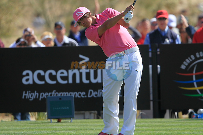 Rickie Fowler (USA) in action during Day 2 of the Accenture Match Play Championship from The Ritz-Carlton Golf Club, Dove Mountain, Thursday 24th February 2011. (Photo Eoin Clarke/golffile.ie)