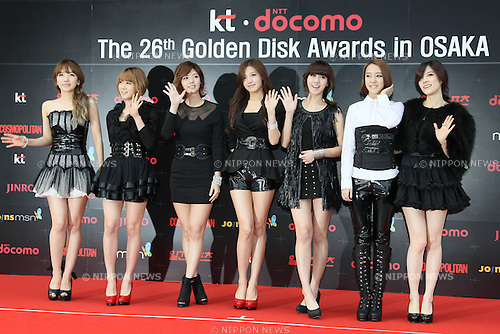 RAINBOW, .Jan 11, 2012.The 26th Golden Disk Awards Osaka was held in Japan. A well known Korean music award took place for the first time overseas and was held for two days, starring famous Korean pop groups.(Photo by Akihiro Sugimoto/AFLO) [1080]