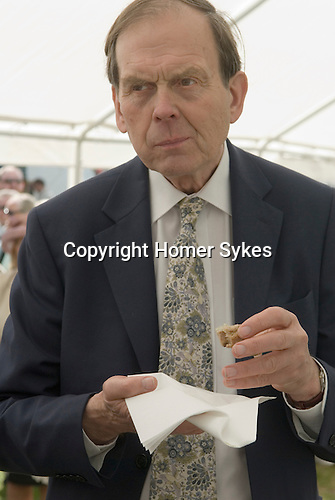 The Earl of Sandwich. John the 11th Earl of Sandwich, tasting a sandwich competition on the occasion of the 250 anniversary of the sandwich. Sandwitch Kent. UK