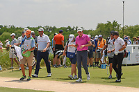 Marc Leishman (AUS), Andrew Wise (USA), and Brian Gay (USA) head down 11 during round 3 of the AT&amp;T Byron Nelson, Trinity Forest Golf Club, at Dallas, Texas, USA. 5/19/2018.<br /> Picture: Golffile | Ken Murray<br /> <br /> <br /> All photo usage must carry mandatory copyright credit (&copy; Golffile | Ken Murray)