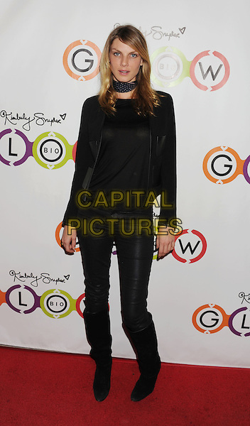 Angela Lindvall.The Opening of Kimberly Snyder's Glow Bio in West Hollywood in West Hollywood, California,.November 14th, 2012.full length jacket black top leather trousers boots.CAP/ROT/TM.©Tony Michaels/Roth Stock/Capital Pictures