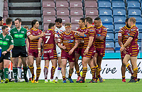 Picture by Allan McKenzie/SWpix.com - 11/05/2018 - Rugby League - Ladbrokes Challenge Cup - Huddersfield Giants v Wakefield Trinity - John Smith's Stadium, Huddersfield, England - Huddersfield's Adam O'Brien is congratulated on his try against Wakefield.