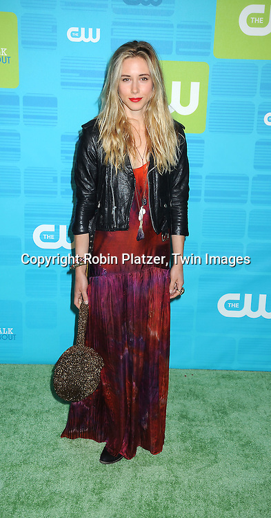 """Gillian Zinser of """"90210"""" posing for photographers at the CW Network 2010 Upfront on May 20, 2010 at Madison Square Garden in New York City."""