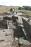 Site where archaeologists believe they have found the remains of a huge Viking fortress near the village of Annagassan in Co Louth..Picture Jenny Matthews/Newsfile.ie