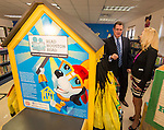 Houston ISD superintendent Dr. Terry Grier, left, talks with Julie Baker, right, of the Bush Foundation during a Read Houston Read news conference at Garcia Elementary School, September 4, 2014.