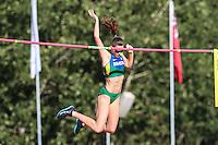 TORONTO, CANADÁ, 23.07.2015 - PAN-ATLETISMO - Fabiana Muler durante salto com vara no atletismo nos Jogos Panamericanos na cidade de Toronto no Canadá, nesta quinta-feira, 23 (Foto: Vanessa Carvalho/Brazil Photo Press)