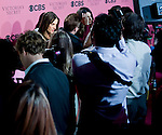 Press speak to Victoria's Secret Angels Miranda Kerr, Alessandra Ambrosio and Lily Aldridge before the start of 2011 Victoria's  Secret Fashion Show viewing party at the Samueli Theater at the Segerstrom Center of the Arts.