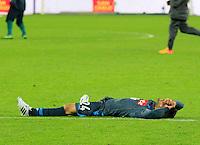 la delusione di  Lorenzo Insigne durante l'incontro di ritorno della semifinale  Tim Cup tra     Napoli - Lazio allo  Stadio San Paolo  di Napoli ,08 Aprile  2015