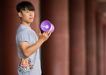 Shen Han-Yen poses for a portrait ahead the Red Bull PAO 2015 at the National Taiwan Science Education Centre in Taipei, Taiwan. Photo by Aitor Alcalde / Power Sport Images