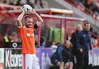 Blackpool's Ryan McLaughlin<br /> <br /> Photographer Kevin Barnes/CameraSport<br /> <br /> Emirates FA Cup First Round - Exeter City v Blackpool - Saturday 10th November 2018 - St James Park - Exeter<br />  <br /> World Copyright © 2018 CameraSport. All rights reserved. 43 Linden Ave. Countesthorpe. Leicester. England. LE8 5PG - Tel: +44 (0) 116 277 4147 - admin@camerasport.com - www.camerasport.com