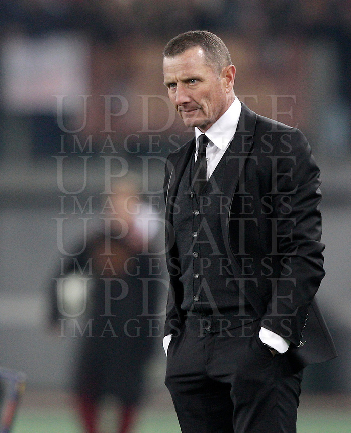 Calcio, Serie A: Roma vs Genoa. Roma, stadio Olimpico, 3 marzo 2013..AS Roma coach Aurelio Andreazzoli looks on during the Italian Serie A football match between AS Roma and Genoa at Rome's Olympic stadium, 3 March 2013..UPDATE IMAGES PRESS/Riccardo De Luca