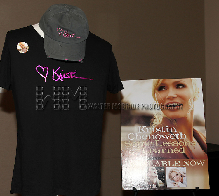 Merchandise.at the after performance reception for.Kristin Chenoweth World Tour directed by Richard Jay Alexander at City Center in New York City on 6/02/2012