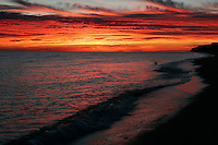Stellar sunsets seen over the Sea of Cortez from the sand dunes of San Felipe, Mexico.