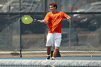 SAN ANTONIO, TX - APRIL 7, 2011: The Texas A&M University Corpus Christi Islanders vs. the University of Texas at San Antonio Roadrunners Men's Tennis at the UTSA Tennis Center. (Photo by Jeff Huehn)