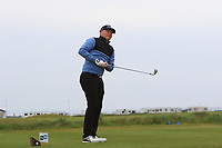 Alex Hietala (FIN) on the 1st tee during Round 1of the Flogas Irish Amateur Open Championship 2019 at the Co.Sligo Golf Club, Rosses Point, Sligo, Ireland. 16/05/19<br /> <br /> Picture: Thos Caffrey / Golffile<br /> <br /> All photos usage must carry mandatory copyright credit (© Golffile | Thos Caffrey)