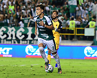 PALMASECA-COLOMBIA,02 -11-2018.Juan Dinenno jugador  del Deportivo Cali celebra después de anotar un gol  al Independiente Medellín durante el primer partido por la final de la Copa  Águila II 2019 jugado en el estadio Deportivo Cali de la ciudad de Palmira./ <br /> Juan Dinenno player  of Deportivo Cali celebrates after scoring a goal agaisnt of Independiente Medellín during the first match for the 2019 Águila II Cup final played at the Deportivo Cali stadium in the city of Palmira. Photo: VizzorImage/ Nelson Rios / Contribuidor