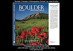 "John was excited to be commissioned to rephotograph his book: ""Boulder, Colorado: A Photographic Portrait."" <br />