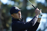 Jordan Spieth (USA) in action at Spyglass Hill during the first round of the AT&T Pro-Am, Pebble Beach Golf Links, Monterey, California, USA. 06/02/2020<br /> Picture: Golffile | Phil Inglis<br /> <br /> <br /> All photo usage must carry mandatory copyright credit (© Golffile | Phil Inglis)