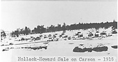 Panoramic view of logging camp in winter.  There are several permanent buildings in view.<br /> Hallack &amp; Howard Lumber Co.  Carson National Forest, NM  circa 1916