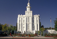 AJ3829, Mormon, temple, St. George, Mormon Temple, Utah, St. George Mormon Temple, the first Mormon Temple in Utah, in Saint George in the state of Utah.