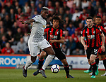 Paul Pogba of Manchester United and Nathan Ake of Bournemouth during the premier league match at the Vitality Stadium, Bournemouth. Picture date 18th April 2018. Picture credit should read: David Klein/Sportimage