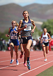 Centennial's Karina Haymore wins the DI 1600 at the NIAA track and field finals at Carson High School in Carson City, Nev., on Saturday, May 21, 2016. Cathleen Allison/Las Vegas Review-Journal