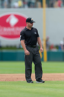 Field umpire Bryan Fields during a game between the Reno Aces and the Fresno Grizzlies at Chukchansi Park on April 8, 2019 in Fresno, California. Fresno defeated Reno 7-6. (Zachary Lucy/Four Seam Images)