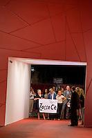 La delegazione del paesino di Zocca giunto a Venezia in occasione della proiezione di un documentario su Vasco Rossi