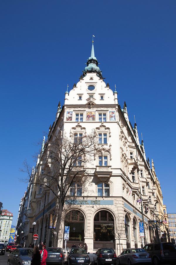 Hotel Paris, a striking and historic art nouveau hotel in Prague, Czech Republic, Europe