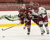 Haley Skarupa (BC - 22), Dani Krzyszczyk (Harvard - 10) - The visiting Boston College Eagles defeated the Harvard University Crimson 2-0 on Tuesday, January 19, 2016, at Bright-Landry Hockey Center in Boston, Massachusetts.
