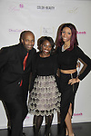 Delaina Dixon & Shawn Cheatham and his daughter Vanessa at Color of Beauty Awards hosted by VH1's Gossip Table's Delaina Dixon and Maureen Tokeson-Martin on February 28, 2015 with red carpet, awards and cocktail reception at Ana Tzarev Gallery, New York City, New York.  (Photo by Sue Coflin/Max Photos)
