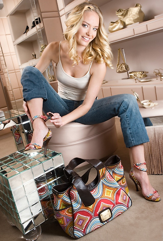 Slug:  AH/Shoes.Date: 1-2007.Photographer: Mark Finkenstaedt FTWP.Location: Various Shoe Retailers, WDC, Virginia, Maryland..Caption: Our model shoe shops at Neiman Marcus in Friendship Heights, Jimmy Choo's and then on to , Sassanova, Georgetown, Hu Shoes on M Street, Carbon on Connecticut and the Shoe Hive in Alexandria....© 2006 Mark Finkenstaedt. All Rights Reserved. LATimes WP News Service OUT unless under special arrangement with the photographer. Print only. No Transfers or thrid party sales. No loans to associates or partners for their use. No advertising or use by third party...www.mfpix.com 202-258-2613
