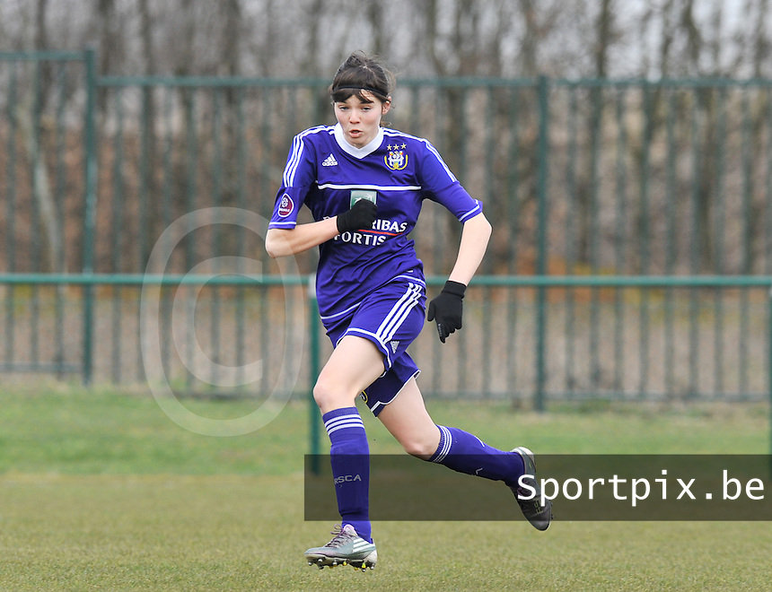RSC Anderlecht Dames : Julie Van Gysel.foto DAVID CATRY / Vrouwenteam.be